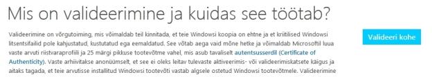 Windows valideerimine põhjalik juhend