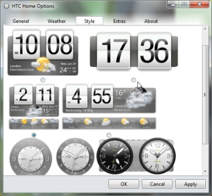 Clock and weather widget