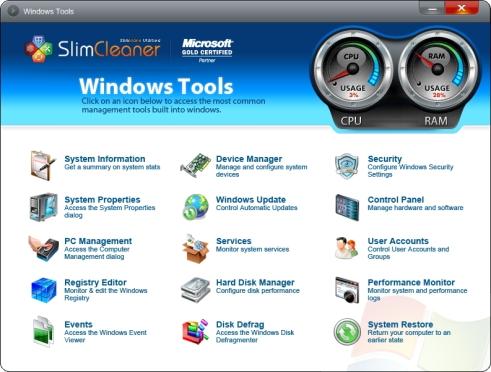 Kuidas leiab Windows abivahendid, tööriistad