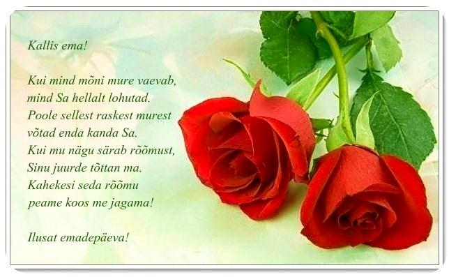 luuletus vanaemale sünnipäevaks