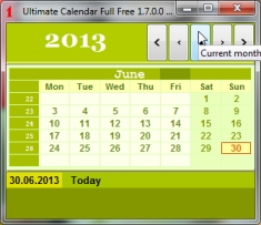 Best Calendar to desktop freeware- Year Calendar