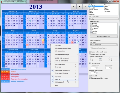 Best Free year calendar 2013, 2014 etc