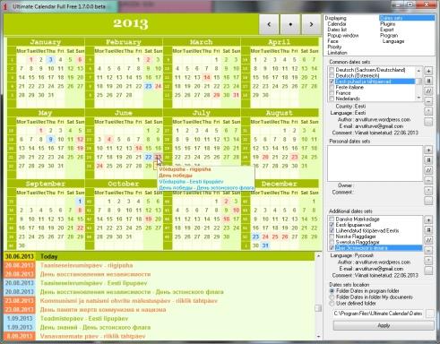 Eesti riigipühade kalender 2013, 2014, 2015 jne