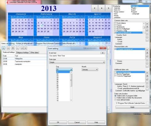 Riigipühade ja tähtpäevade kalender 2013, 2014 jne