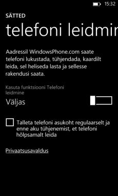 Kadunud või varastatud telefoni lukustamine