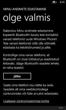 Nokia Lumia kontaktide varundamine