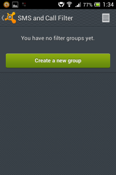 Nutitelefoni SMS filter