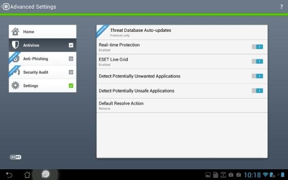 Android tahvelarvuti viirusetõrje