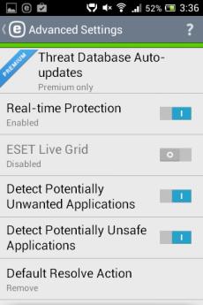 Viirusete otsimine android süsteemist