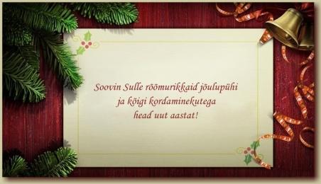 Soovin sulle jrõõmurikkaid jõule