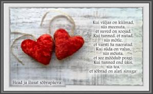 Head sõbrapäeva luuletus