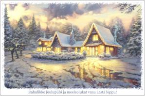 Kaunid jõulukaardid saatmiseks