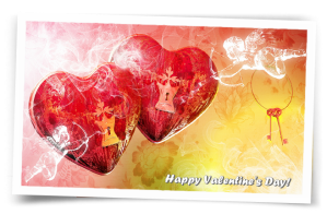 Happy valentine's day digital cards